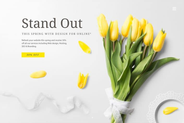 Web design & SEO offers this spring, affordable pricing